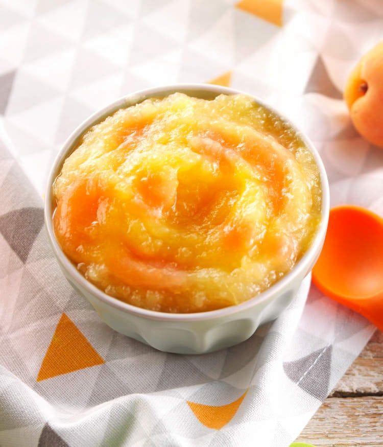 purée pour bébé pomme abricot prim fruits