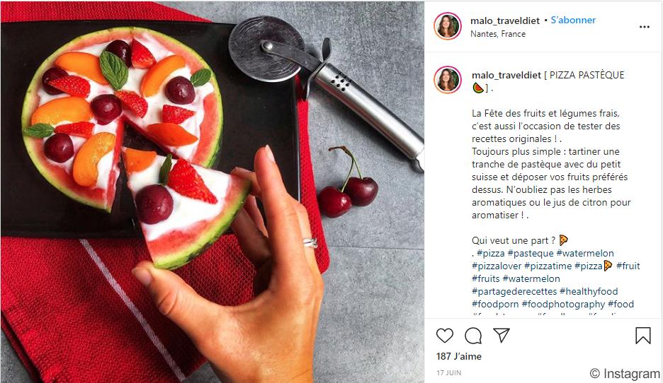 Instagram - Pizza Pastèque - malo_traveldiet