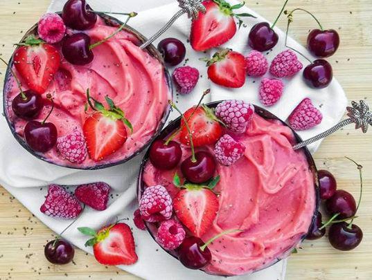 Nice Cream - Fraise, framboise cerise - Huffington