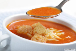Soupe tomates fromage